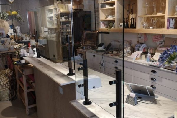 protective glass cashier guard