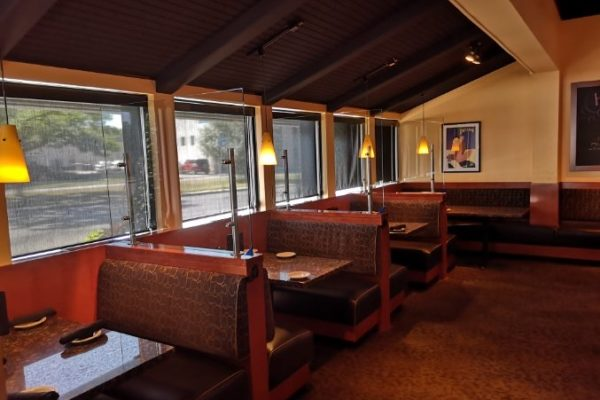 protective glass restaurant booths
