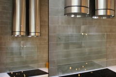 Clear backsplash stand offs 2